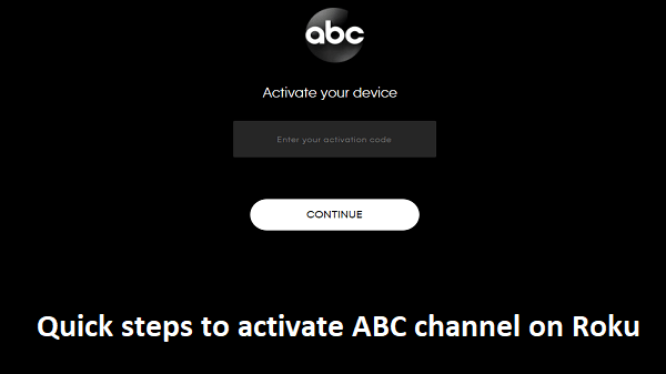 Activate ABC channel on Roku